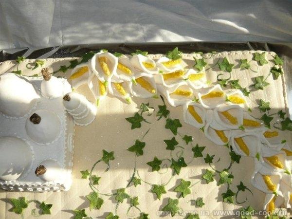 торт мечеть с каллами
