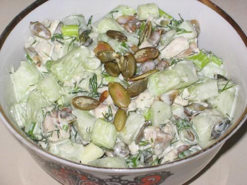 Таня, я со спасибами: Большое спасибо за вкусные салаты: Петегроф от Салат с курицей, сухариками и... - 2
