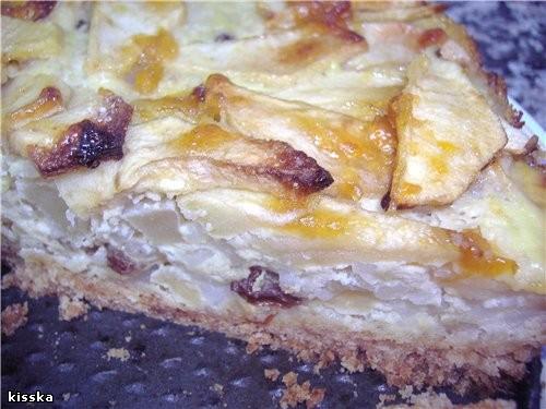 Продолжим яблочную тему яблочно-рисовый пирог песочное тесто 250г - 2