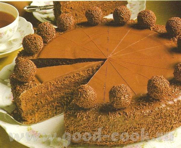 """Шоколадный торт с трюфелями Рецепт из книги """"Мир выпечки - 3"""