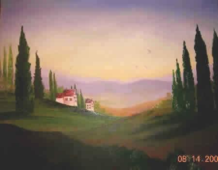 Рисуем абстракцию акрилом Еще одна абстракция Тосканский пейзаж Копия Моне Пошаговая картина и... - 3