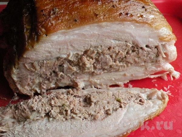 ФАРШЕРОВАНЫЕ РЕБРА БЕЗ КОСТЕЙ ПОТРЕБУЕТСЯ: 100гр мяса на котлеты, 300 гр фарша мясного, 1 яйцо, 1 л... - 10