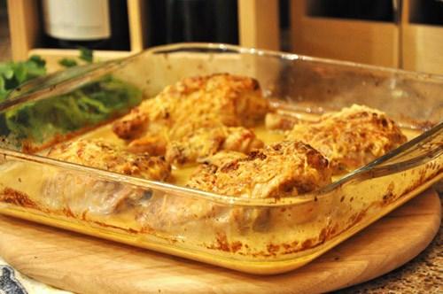 Курочка в горчично-сырном соусе ( Poulet a la dijonnaise) - 2
