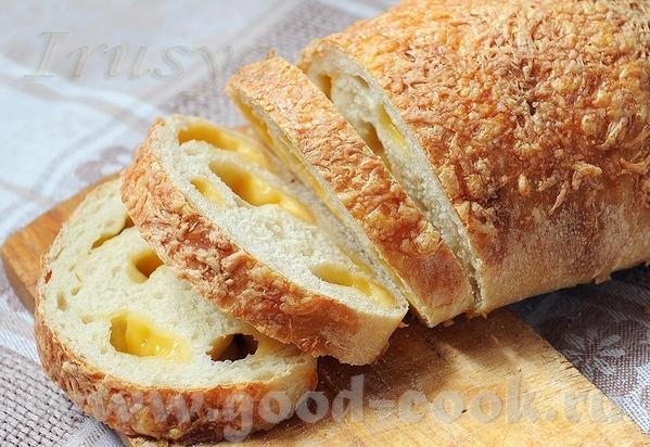 А вот и хлебушек с сыром