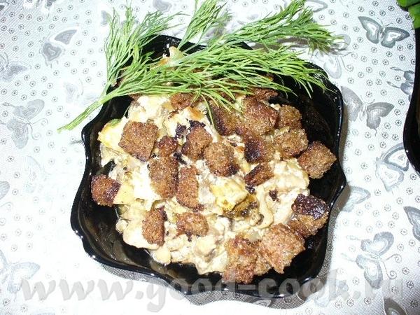 салат воздушный капуста савойская феле куринное твердый сыр сухарики майонез феле мелко нарезать, п... - 3