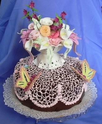 Торт в вазе мастер класс