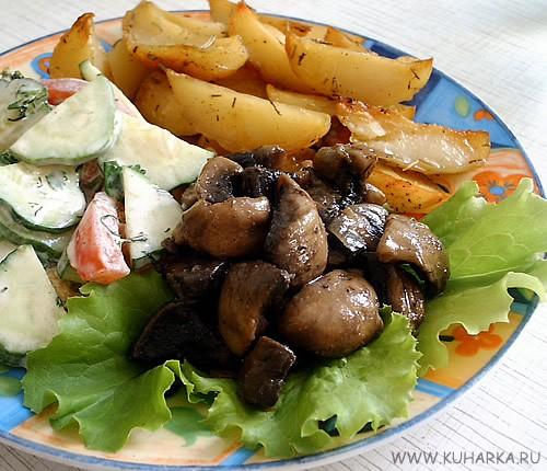 Сегодня у нас был суп-гуляш по-домашнему от Olja , картошка с розмарином , салатик из свежих овощей... - 2