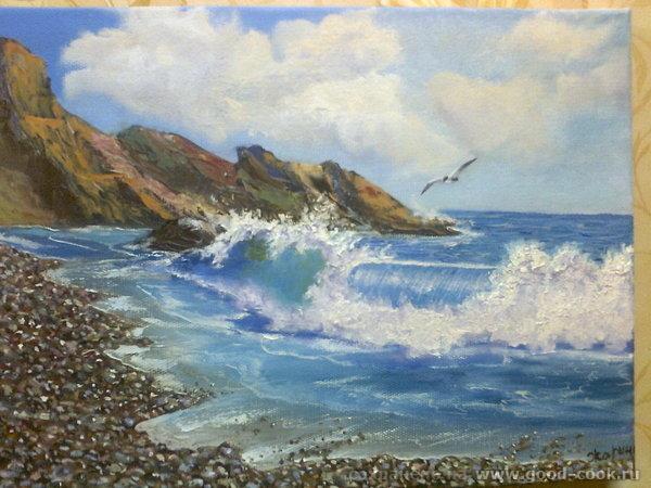 морской пейзаж с чайкой