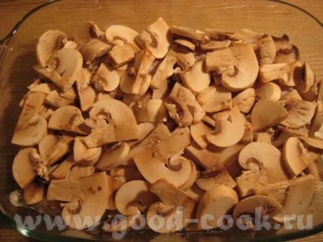 Картофельная запеканка с курицей и шампиньонами Потребуется куриное филе (у меня одна долька 200 г)... - 6