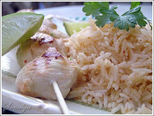 Куриные Шашлычки по Тайски с Кокосовым Рисом