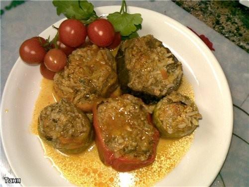 Фаршированые овощи Котлеты,начиненные грибами в грибном соусе Псевдофаршированная рыба Кебабы из го...
