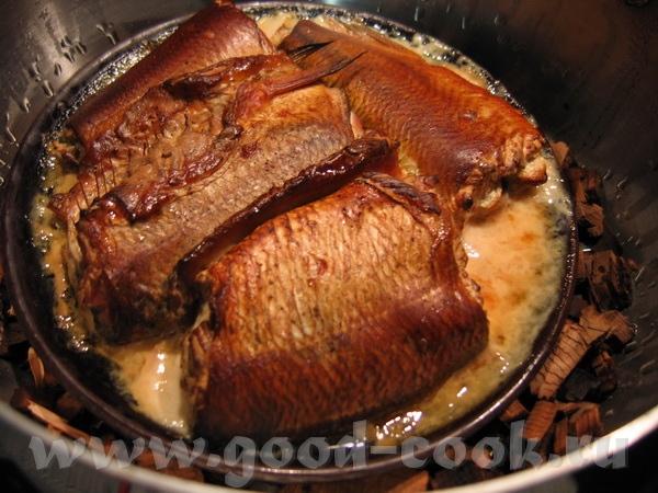 коптила рыбу так же как курицу Купила замороженного сырка (800 г) - 2