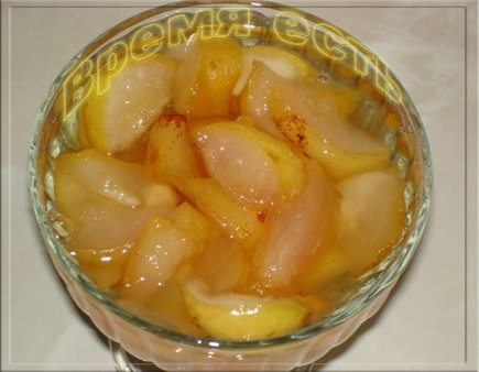 Грушевое варенье с лимоном Груши 1 кг Сахар – 1 кг Лимон 1 шт Вода 200г Груши нарезать дольками