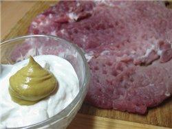 Мясной рулет с черносливом и сыром Ингредиенты: - 500 г свинины (у меня был брусочек задней части)... - 3