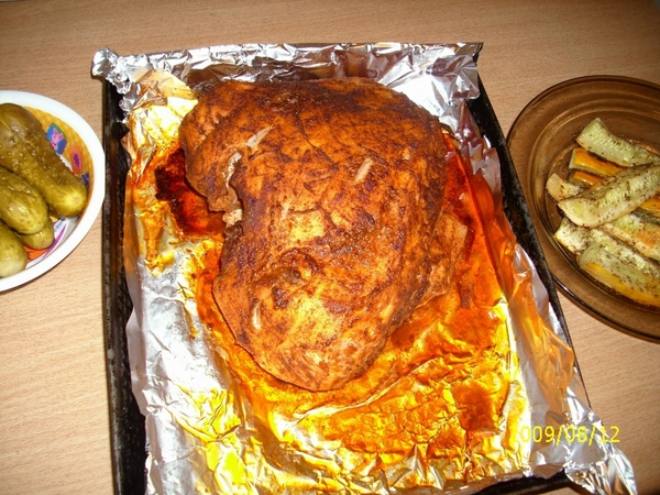 , наверное уже поздно и свининка приготовлена, но я часто делаю так: натираю кусок свинины солью, п... - 3