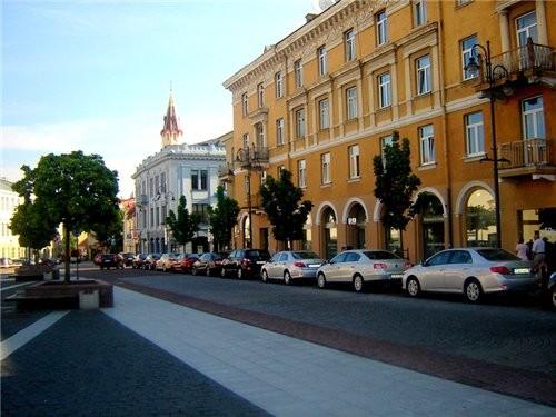 Ниагарской водопад литовского разлива Центр Вильнюса, старый город, Ратуша главная улица столицы -... - 5