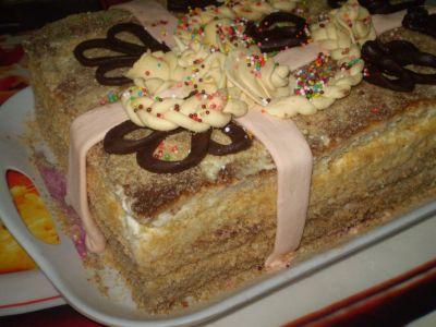 """Торт """"Подарок"""" Украшения из сахарной мастики И шоколадные фигурки Вот Здесь рецепт приготовления ко... - 2"""