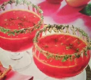 Холодный суп из помидоров и перца 4 порции В одной порции: 46 ккал, 2,8г белков, 0,7г жиров, 3,8г к...