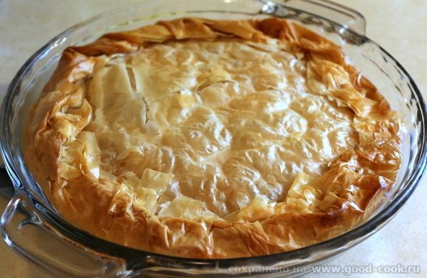 Пирог с индейкой из теста фило.