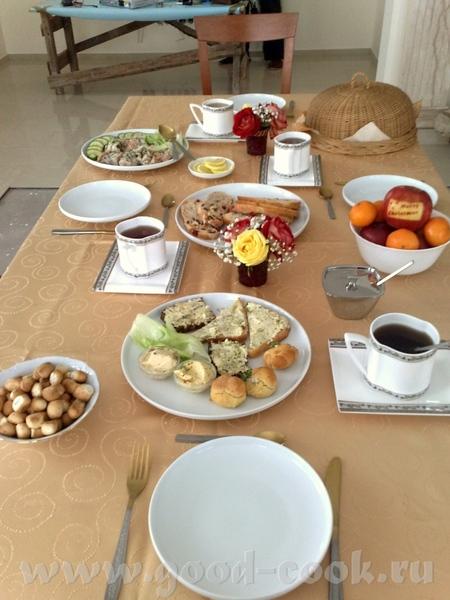 утром завтракали чем Бог послал вообще-то я собиралась готовить отдельно завтрак, какой-нибудь омле...