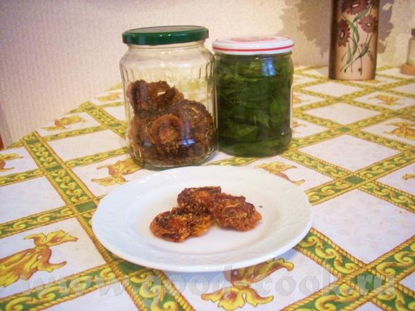 Пряные сливы в маринаде Вяленые томаты (в духовке) Хранение базилика в масле - 2