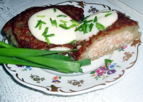 Драники фаршированные мясом Сырой картофель натереть на мелкой терке, добавить муку яйцо и все пере...