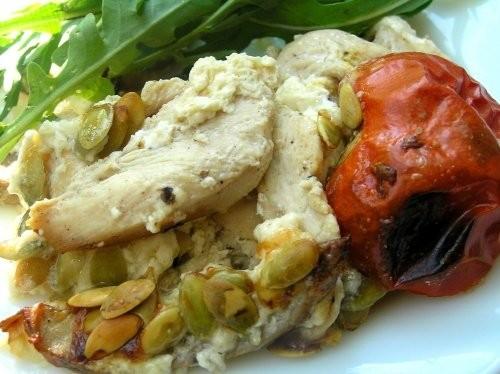 Запеканка из куриного филе с грибами и помидорами - 2