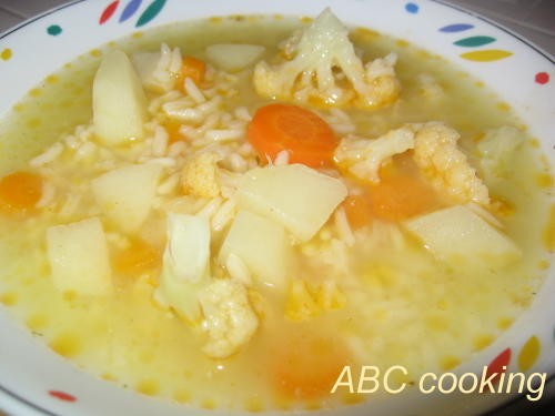 Лососевое филе в фольге со специями Овощной супчик с рисом - 2
