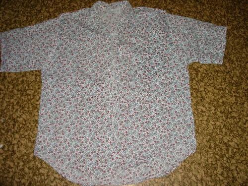Была такая рубашка Из нее сделала такой топик, который хорошо смотрится с джинсами и льняными шорта...