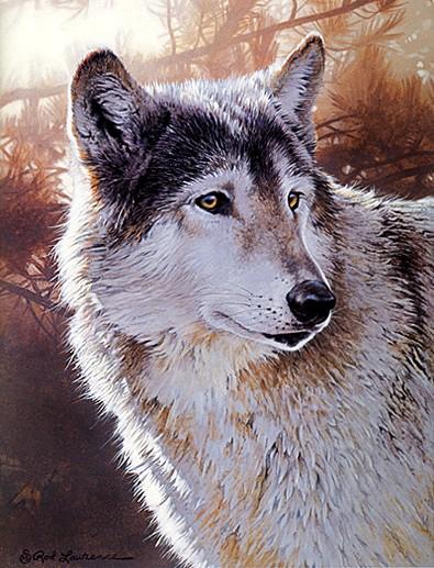 Волк акрилом Как рисовать деревья Смешивание цветов для масла