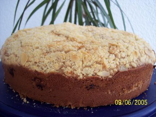 прими моё спасибо за Ягодный кекс со штрейзелем делала не много по другому, не было грецких орехов...