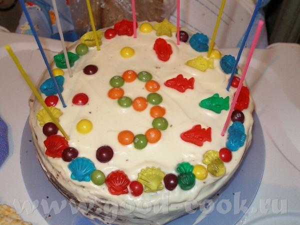 Эти 2 тортика я делала на день рождения сыну- один когда приходили его друзья, второй- когда родств... - 2