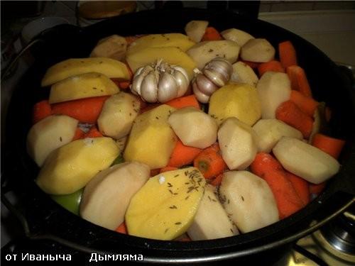 И вот подходит очередь картофеля