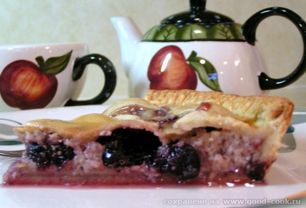 Баскский пирог с вишней.