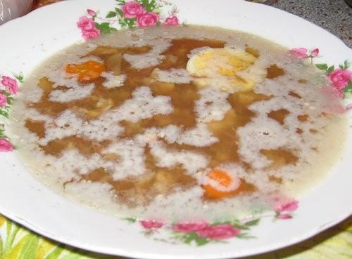 Маринованные грибы Холодец Оливье А на горячее была курица запеченная с яблоками, мандаринами, черн... - 2