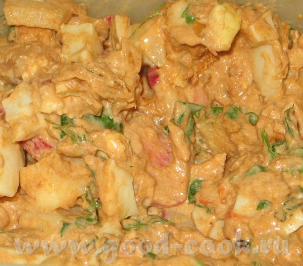 Рыбный салат из кольраби 1 баночка (120-150 гр) пикантной туны* 2 вареных яйца 1 средняя кольраби 6...