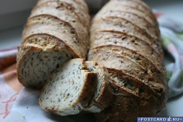 Зерновой хлеб на закваске Закваска (влажность 125% ): 40 г