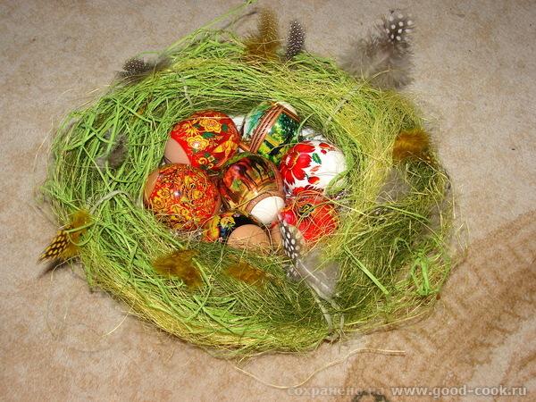 Гнездо для пасхальных яиц