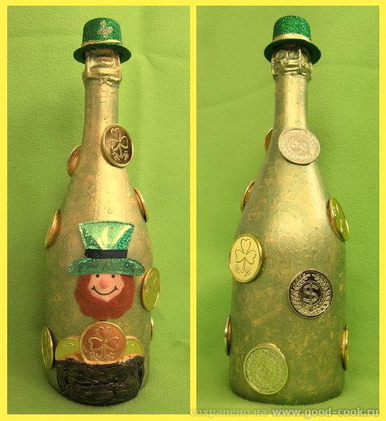 """Шампанское """"Леприкон"""" подарено нашему апартментному офису 17 марта, им понравилось, хоть и очень пр..."""