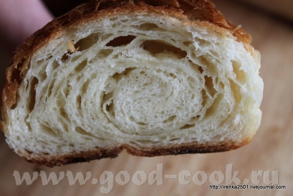 Croissant - Круассаны (с использованием жидкой закваски) 500 гр муки №45 500 гр хлебной муки 130 гр... - 2