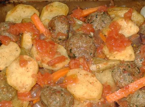 Сегодня у меня на обед Кюфта с овощами в духовке - 2
