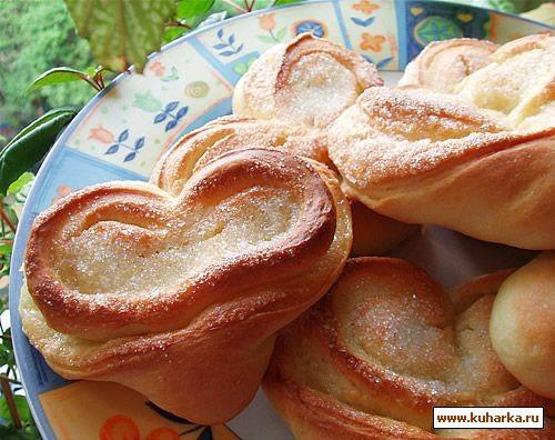 Сегодня из хрущевского теста испекла булочки и пирожки Как такие слепить, можно посмотреть здесь:... - 2