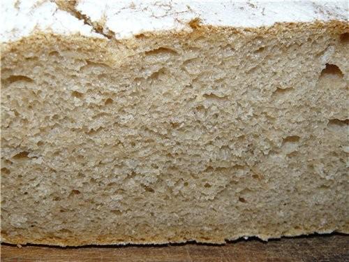 Осталась варёная картошка со вчерашнего дня, Бига уже стояла, так родился этот хлеб