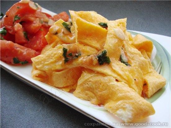 8/50 рецептов из яиц Омлет по-флорентийски 2 яйца помидорка чеснок зелень петрушки базилик масло ра...