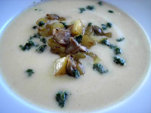 Картофельный суп с белыми грибами по рецепту Paul Bocuse 400 гр разваристого картофеля уже очищеног...