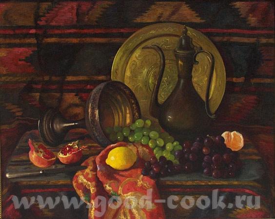 кселена я читала что для кухни, лучше всего натюрморт делать с персиками апельсинами, ярких цветов,... - 9