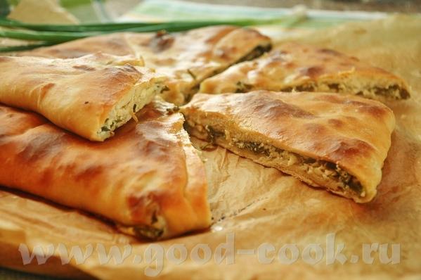 Критские пирожки с сыром или мясом Осетинский пирог с зеленью - 2