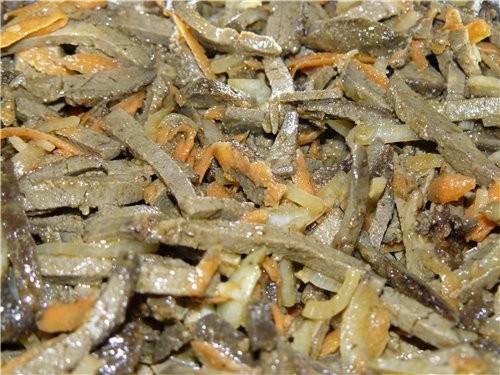 Салат с отварной говяжьей печенью рецепт с