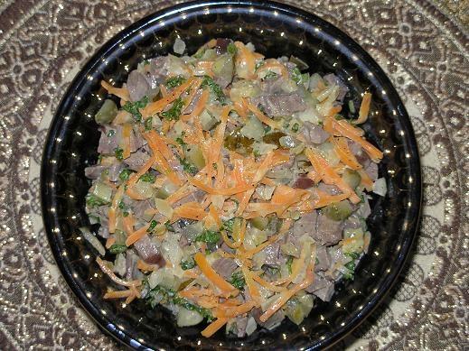 Салат из почек свиных