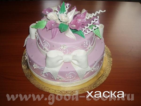 Вот такой свадебный торт у меня был вчера